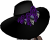 bl Hat w skull & flowers