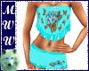 Aqua Butterfly PJs