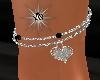 Heart Ankle Bracelet *L*