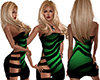 Green Zebra Thigh Dress