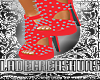Pearl Red Spike Heels