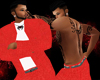 (CB) Red Linen Pants