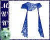 Blue Sheer Lace Shawl