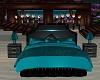 fancy blue bed