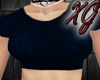 ~XG~Crop Sweater Blue