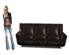 Couch no pose brown lthr
