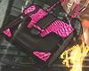 Pink SnakePrint Handbag