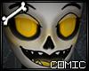 CSS| Yellow Fem Skull