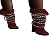 ~N~ dk red chained boots