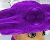 purple mink hat