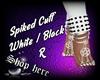 Spiked Cuff R WhiteBlack