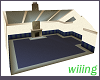 Square Living room-blue