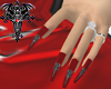 *O* Goth Bat Nails Red