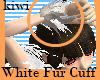 White Fur Cuff
