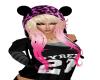 Pink /Blk Hat
