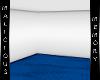 Simple White Room - Blue
