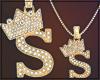 Gold Chain S Letter Fem