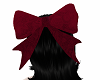 Blood red hair bow