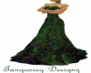 drk green gown