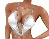 White Glitter Halter Top