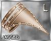 Golden studded armband L