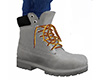 Gray Work Boots 3 (M)