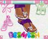 Butterfly Sandals Purple