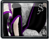 *S Heart Sleeves-Purple
