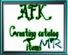 AFK Creating headsign