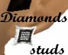 Diamonds B/W stone studs