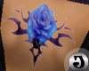 Blue Rose Tribal tat