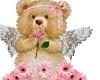 Purple angel bear