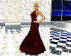lowback red velvet gown