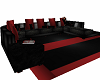 Red and Black sofa