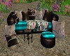 Teal Couch Set