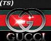 Black Gucci V Neck Tee