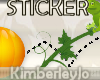 Hoppy Halloween Sticker