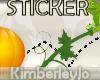 Hoppy Halloween Sticker