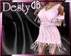 Pink Tassle Dress