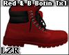 Red & Black Botin Boots