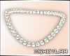 $ Pearl Necklace | white
