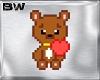 Bear In Teddy Love Badge