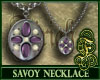 Savoy Necklace Purple