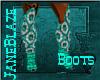 [JB] Teal PVC Boots M