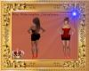 2-Tone Red & Black Dress