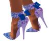 Lavender Blue Bow Heels