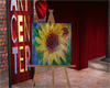Sunflower painting easel