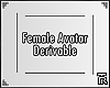░ Female Avatar Deriv.