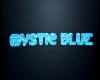 Mystic Blue Club Sign