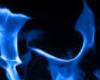 RW# wall blue flame